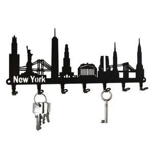 ARMOIRE - BOITE A CLÉ Tableau des clés - New York Skyline, acier