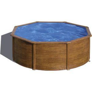 piscine hors sol bois 3m 50 achat vente pas cher. Black Bedroom Furniture Sets. Home Design Ideas