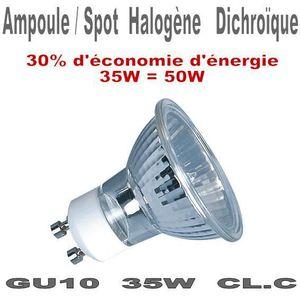 AMPOULE - LED Ampoule halogène dichroïque GU10 220V 35W Classe C