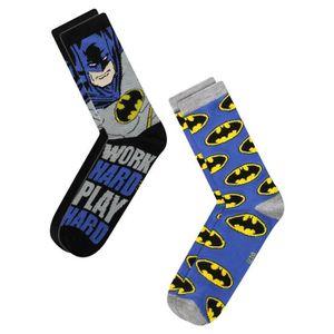 CHAUSSETTES Batman Chaussettes Homme - 2 Paires