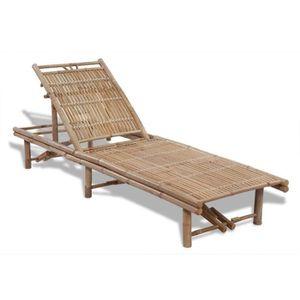 Longue Chaise Personnes R132 Est Cette Ideale Pour Bambou 2 De VGLUMSpqz