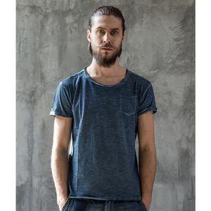 ac00336c4f603b Rétro Tee Shirt Homme Casual Style Simple Slim Fit Coton Couleur ...