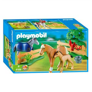 UNIVERS MINIATURE Playmobil 4188 Famille De Chevaux