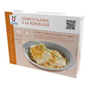 POISSON CUISINÉ Colin d'Alaska surgelé à la bordelaise - 400 g