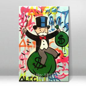 TABLEAU - TOILE Tableau Déco - Toile Peint à la main - Alec Monopo