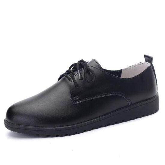 Chaussures Femmes Cuir Occasionnelles Comfortable Chaussure LKG-XZ042Noir35 Noir Noir - Achat / Vente escarpin