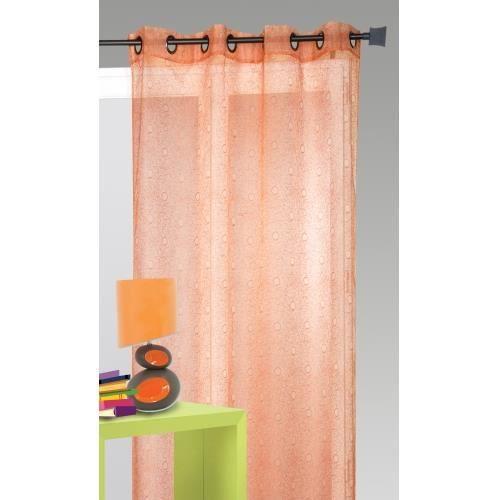 Voilage - Rouge - 140x240cm - 100% Polyester - 8 Œillets métal - Vendu à l'unité - Prêt-à-poser -VOILE - VOILAGE