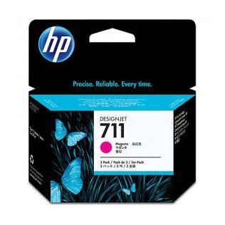 HP Cartouche d'encre 711 - Pack de 3 - Magenta
