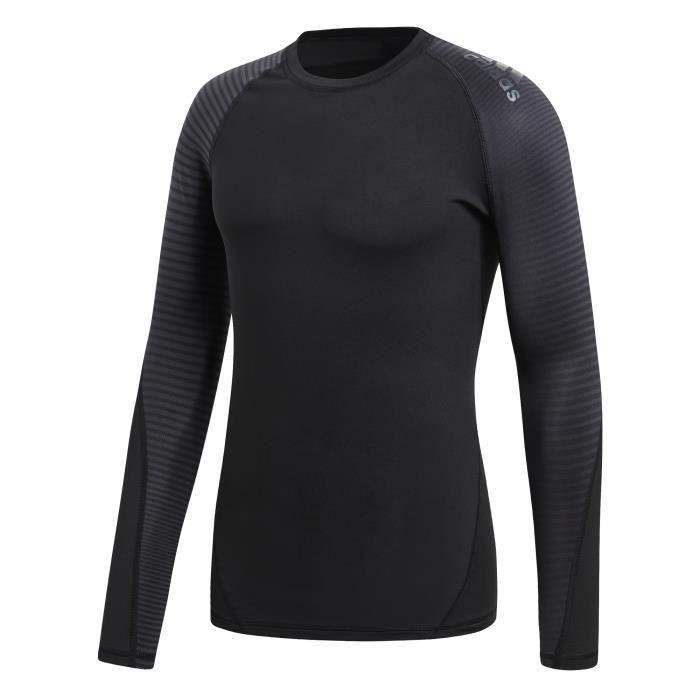 ADIDAS Sweat-shirt Alpha Skin Sport Teels - Homme - Gris