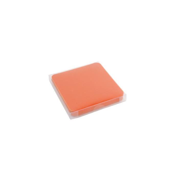 YONG Set de 12 Sous-verres plastique - 9x9cm - Orange