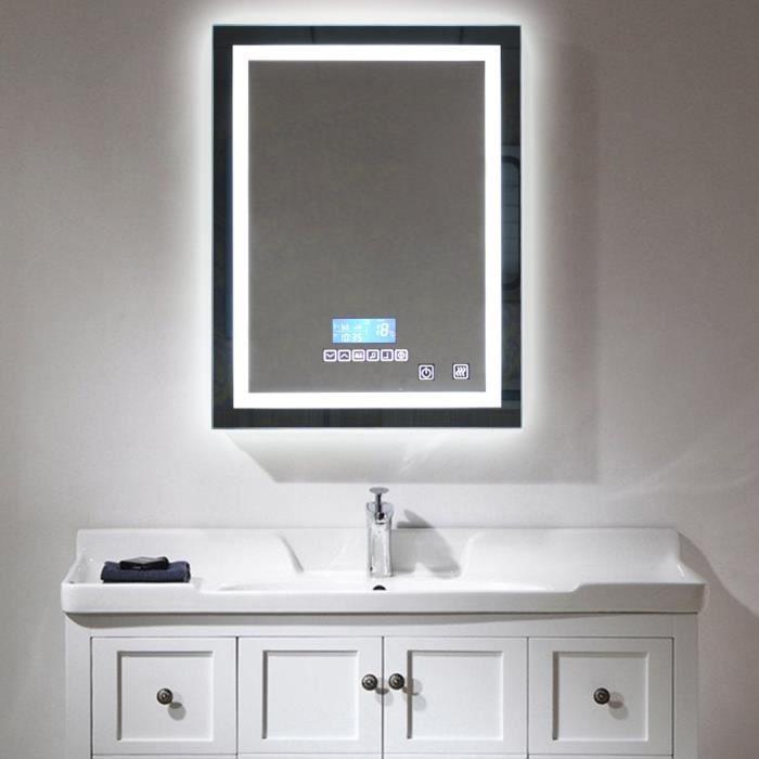 24W LED Miroir Salle de Bains Éclairage - Miroir lumière ...