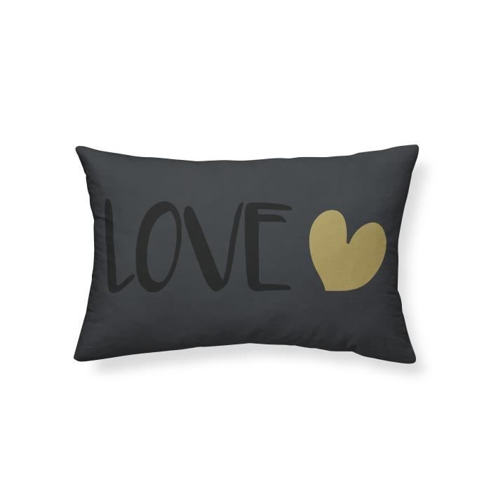 COUSSIN TODAY Coussin - Gold is Black - Love - 30x50cm - N