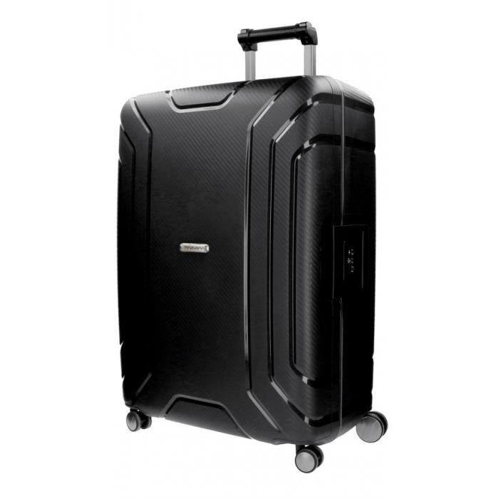 VALISE - BAGAGE Newport Movom valise moyenne noir 65cm rigide