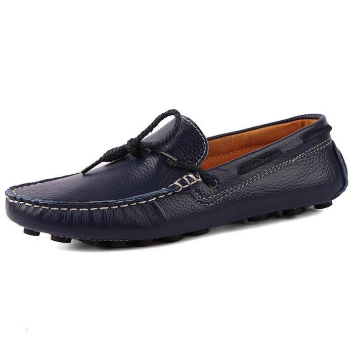 Chaussures de bateaux pour homme en cuir vérita... XiEjP