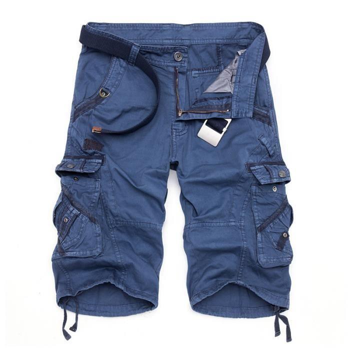 Bermuda Multipoches Marque Verte Pantalon Bleu Rouge Kaki Cinquième Armée Homme rHqRKTBCr