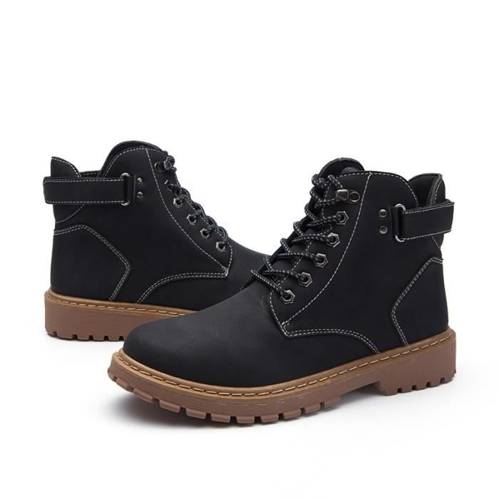 Matin bottines homme boots d'outillage Mode Casual loisirs Antidérapant Chaussure Marron & Noir AFXG XZ3040