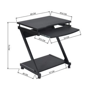 petite table roulette achat vente petite table roulette pas cher cdiscount. Black Bedroom Furniture Sets. Home Design Ideas