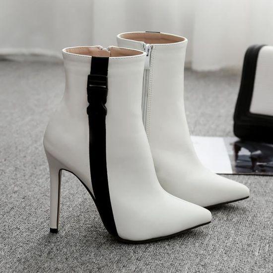 Wy6097 Escarpin Escarpins à Bottes Sandales Chaussures Haut les Talon Lacets Bout Deessesale Pointu Femmes Printemps Nn0m8w