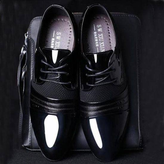 D'affaires Noir Mode Chaussures À Pointu Hommes Casual Lacets Oxford qg1Sc8gWpd