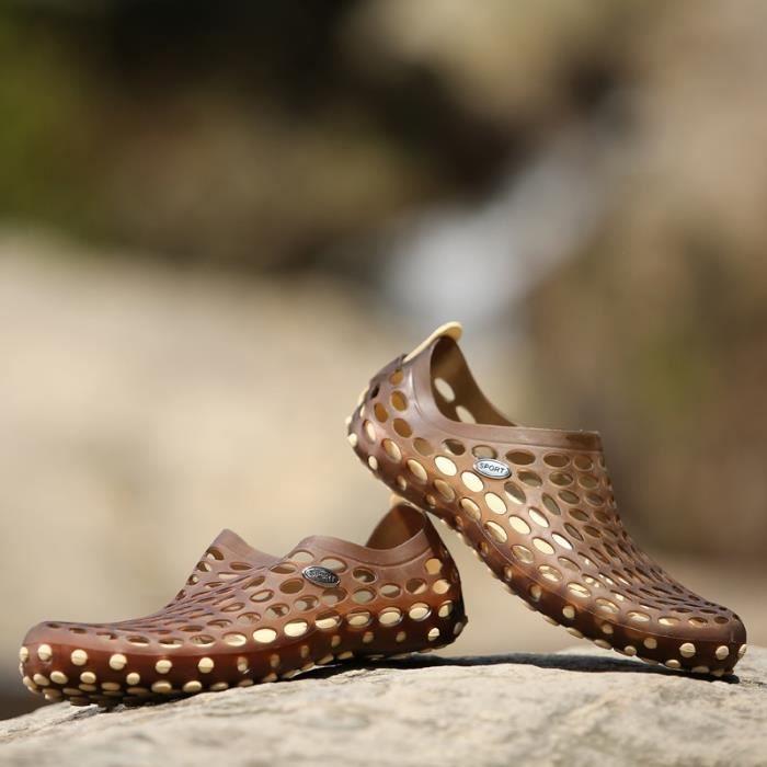 Skid-résistance des hommes Slip-on Chaussures de plage