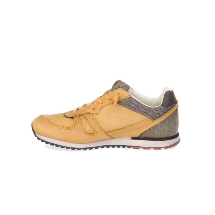LOTTO HOMME S0099YLWMIN JAUNE CUIR BASKETS