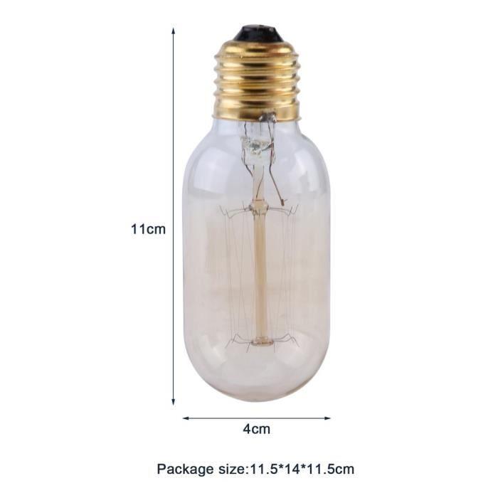 Vintages Lot Suspendre À Ampoules Edison Chaud 40w 4 Filament T45 De Blanc 7UqIU4Op