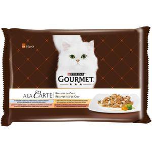 GOURMET Pâtée Pour Chat A La Carte Poisson 4x85g