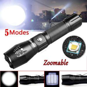 LAMPE DE POCHE Tactique Police 5000LM Zoom XM-L T6 LED 5Modes lam