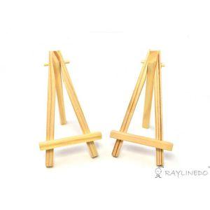 CHEVALET DE PEINTRE 2pcs 5inch Mini-Chevalet triangulaire en bois Déco