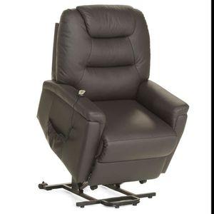 la meilleure attitude 10806 471e3 Fauteuil de relaxation électrique avec releveur cuir brun ou ...