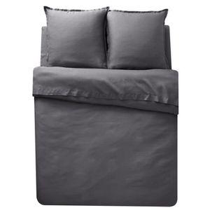 housse de couette lin lave achat vente pas cher. Black Bedroom Furniture Sets. Home Design Ideas