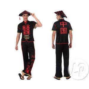 DÉGUISEMENT - PANOPLIE déguisement de chinois composé d'une veste, d'u…