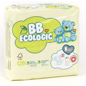 COUCHE BEBE ECOLOGIC - Couches  taille 1 - 27 couches