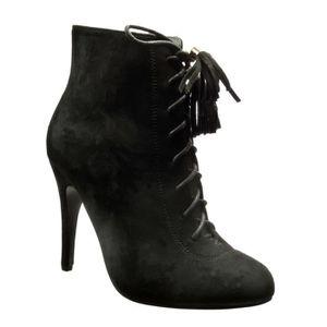 c24bbbf027a04 Boots femme noires avec des lacets - Achat   Vente pas cher -