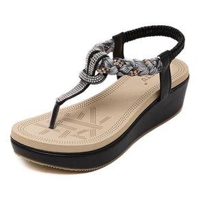 SANDALE - NU-PIEDS Minetom Femmes Mode Été Des Sandales Bohémien Styl