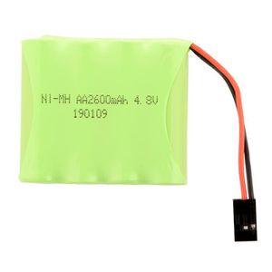 BATTERIE VÉHICULE 4.8V 2600mAh AA Batterie de récepteur plat Ni MH R