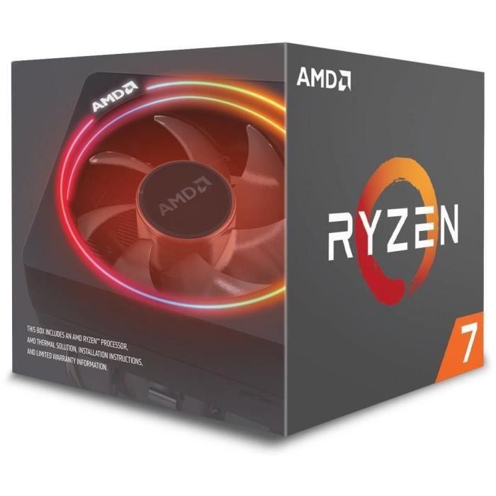 AMD Processeur Ryzen 7 2700 - ventiard Wraith Spire (LED) - YD2700BBAFBOX