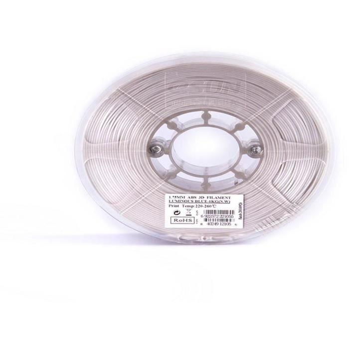 ESUN Filament pour Imprimante 3D ABS ESUN - Phosphorescent Bleu - 3 mm - 1kg