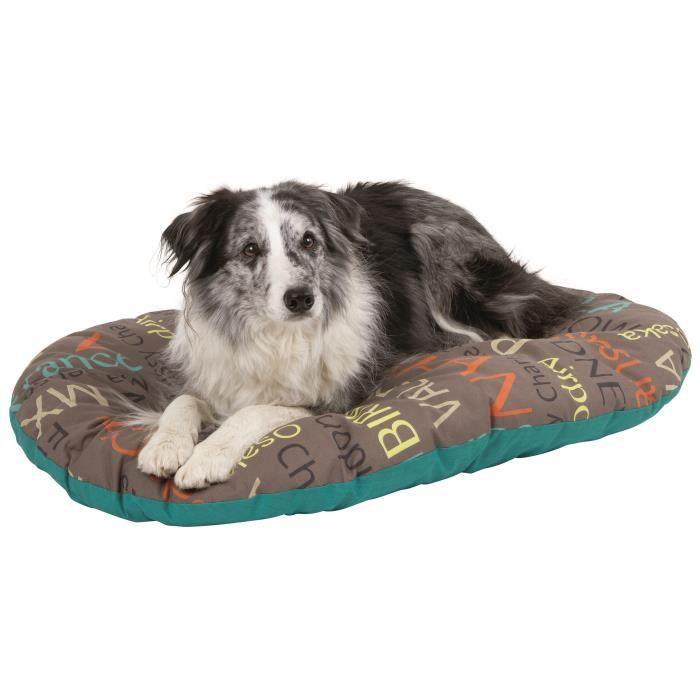 50 % coton, 50 % polyester - Lavable à 30 °C - Dimensions : 90x65cm - Coloris : multicolore - Pour chien.CORBEILLE - PANIER - COUSSIN - HAMAC - LIT