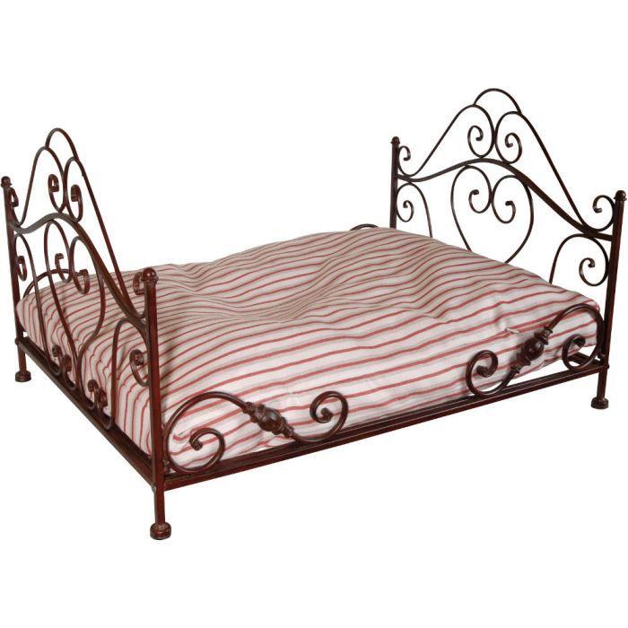 lit pour chien en fer forg avec coussin 68x54x achat vente corbeille coussin lit pour. Black Bedroom Furniture Sets. Home Design Ideas