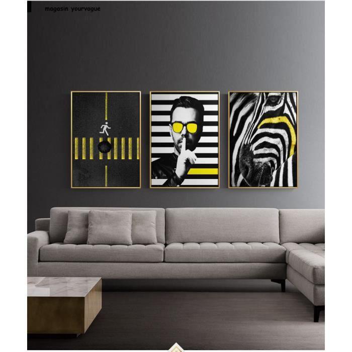 Moderne Hd Toile Peinture Zebre Traversant Affiches Et Impressions Art Mur Photos Pour Salon Noir Et Blanc Modeles Non Encadres