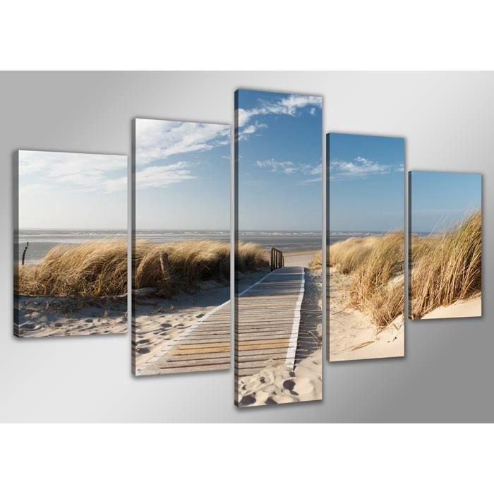 Tableau moderne imprim 200x100 cm plage achat vente - Tableau imprime sur verre ...