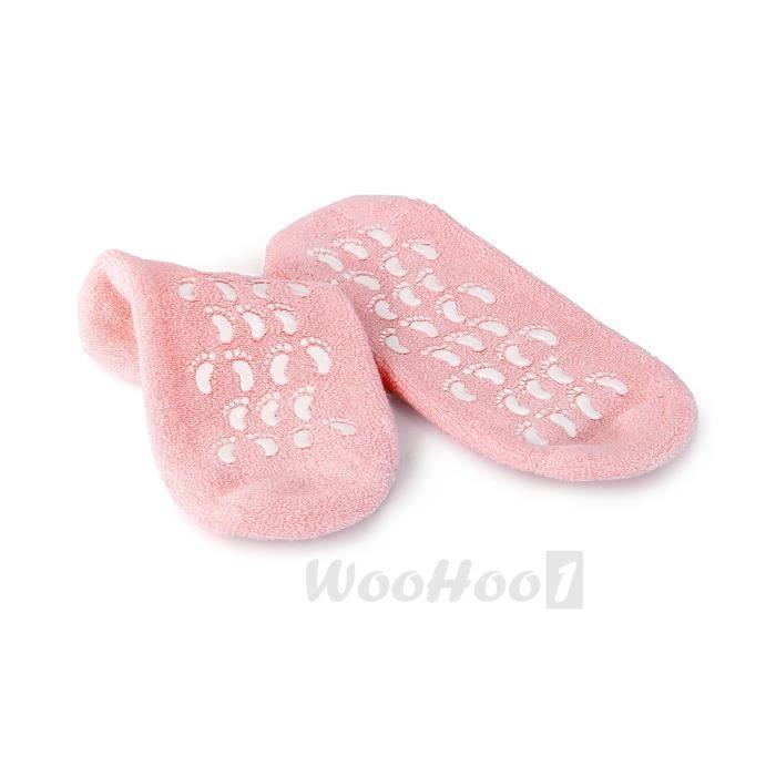 2 Chaussettes Chaussons Gel SPA Hydratant Soins De Pieds Treatment Socks