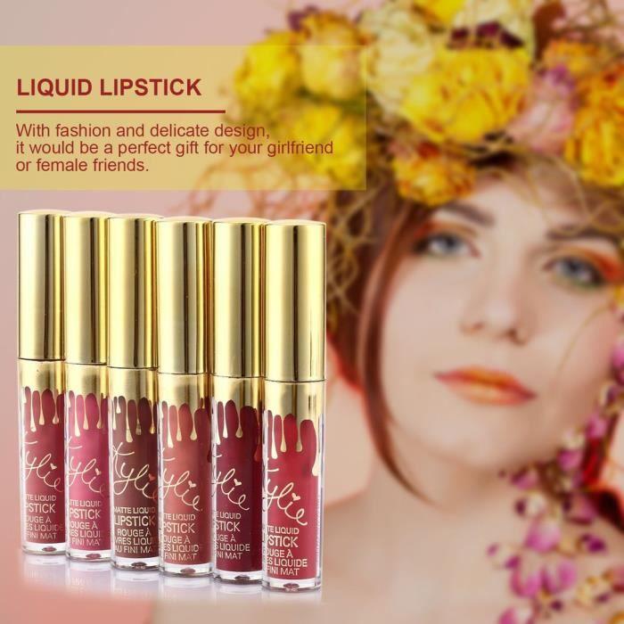 ROUGE A LÈVRES Lady Femme Lot de 6 brillants à lèvres Rouge à lèv