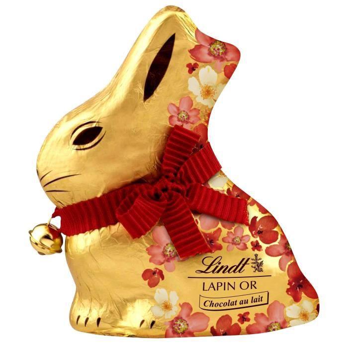 CHOCOLAT EN TABLETTE Chocolat Lindt Lapin Or Lait Fleurs 500g pour Pâqu