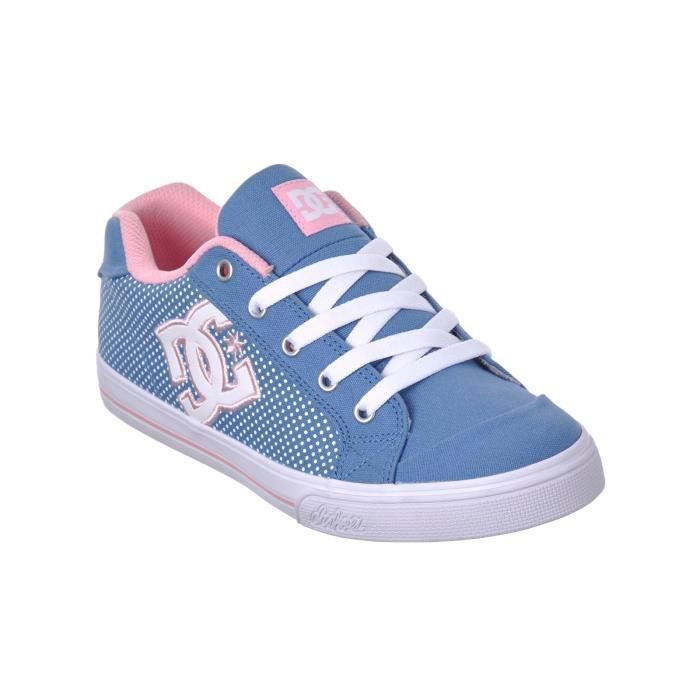 Chaussures Fille DC Chelsea TX - Special Edition Bleu-Blanc Print