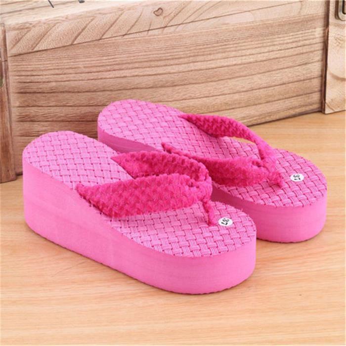 femmes de chaussures d'été sandales 2017 chaussure femme marque de luxe pantoufles d'été sandales plates tongues chaussures de IFeVj