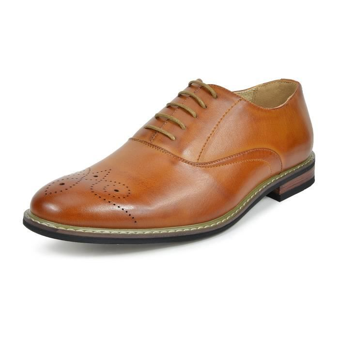 Bruno Marc-Prince Robe en cuir doublé Oxfords Chaussures B8FC4 Taille-47