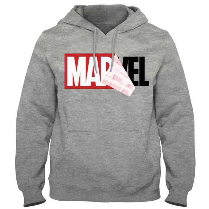 Sweat Marvel Logo Gris Chiné Mania Achat Vente Shirt rg5wUqzxr