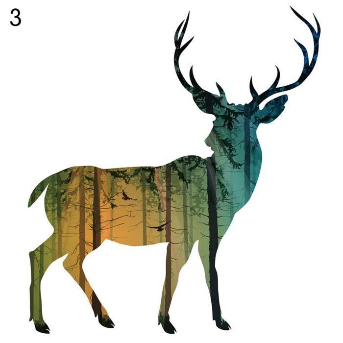 Style nordique lan silhouette mur peinture de d coration for Decoration murale nordique